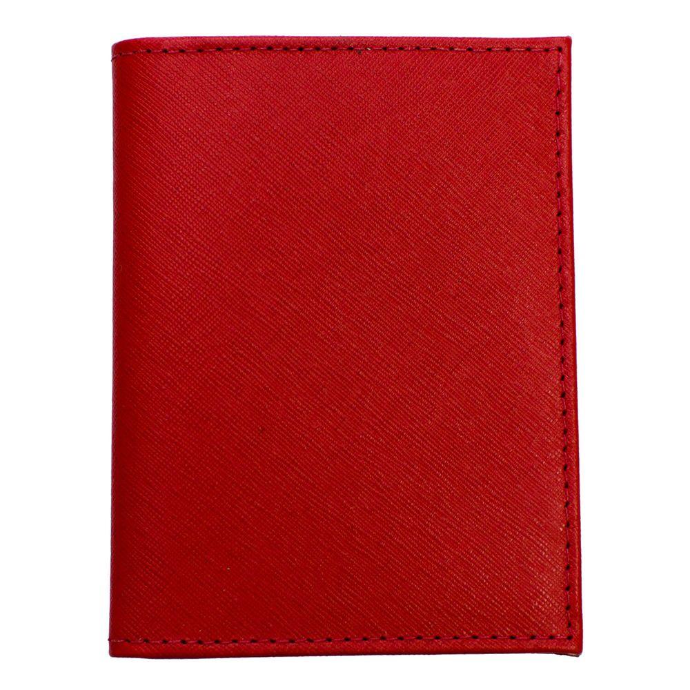 Porta-Documentos-de-Carro-Vermelho-Safiano