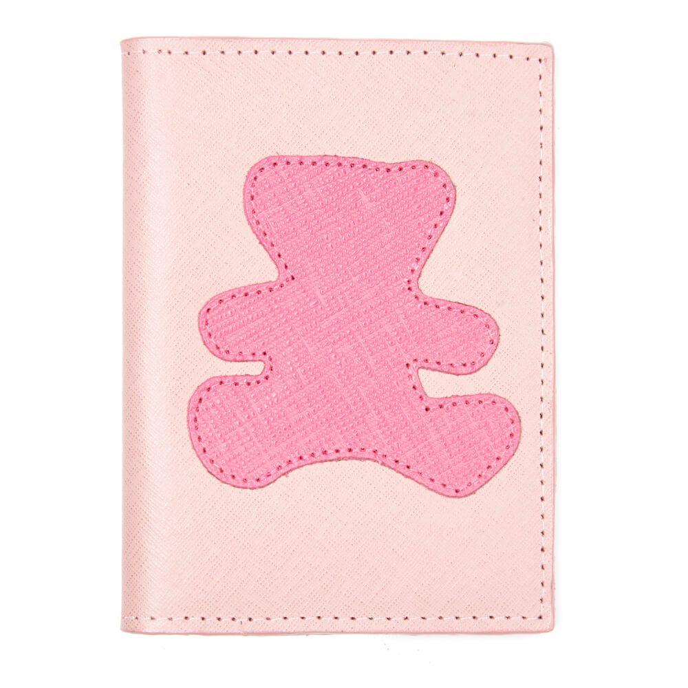 Porta-Passaporte-Infantil-Algodao-doce-com-Urso-Pink-Prada