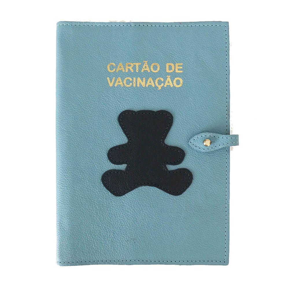 Porta-Cartao-de-Vacina-Little-Bear-Aqua-com-Marinho