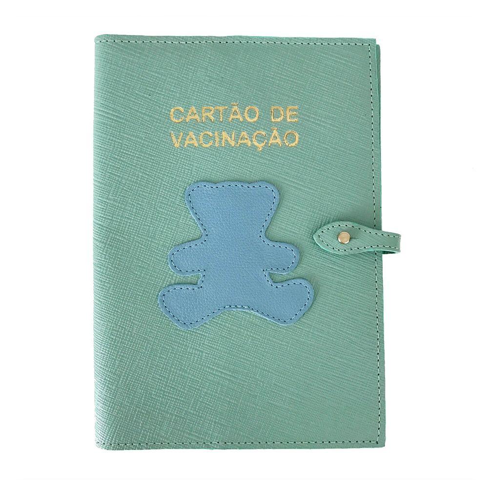 Porta-Cartao-de-Vacina-Little-Bear-Menta-Prada-com-Aqua