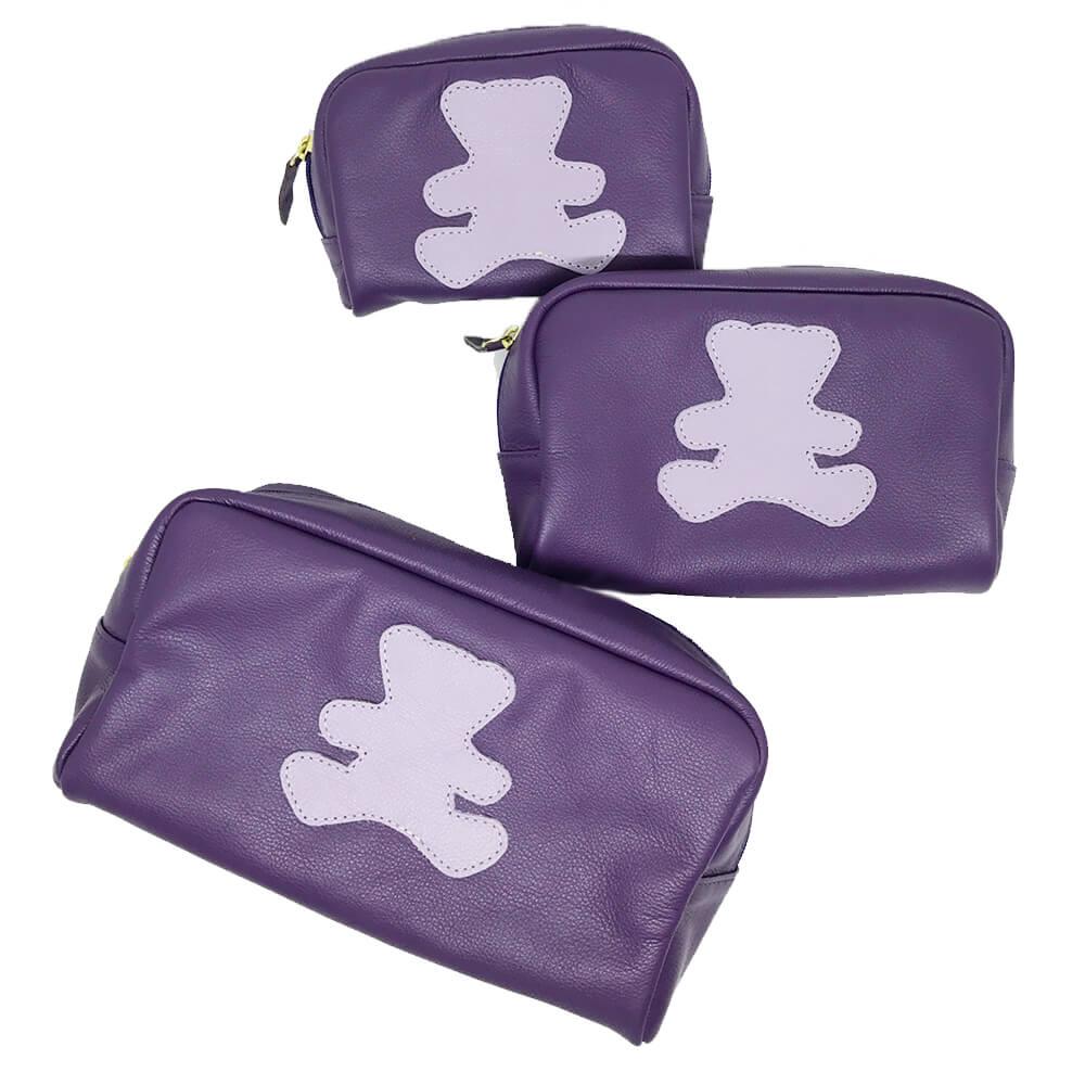 Kit-Necessaire-Little-Bear-Purple-com-Lilas