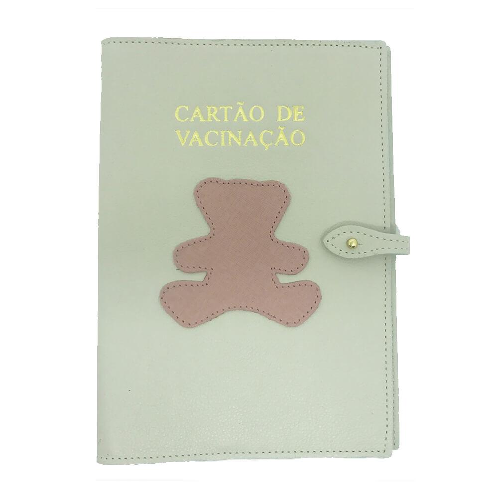 Porta-Cartao-de-Vacina-Little-Bear-Off-White-com-Algodao-Doce