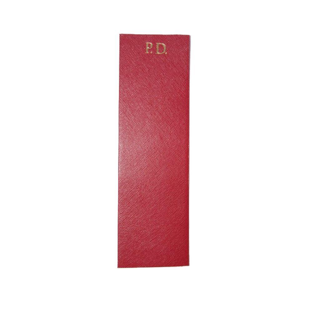 Marcador-de-Livro-Vermelho-Safiano