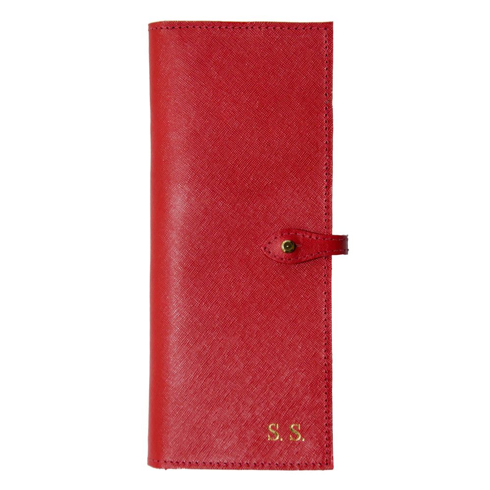 Porta-Cheque-Vermelho-Safiano