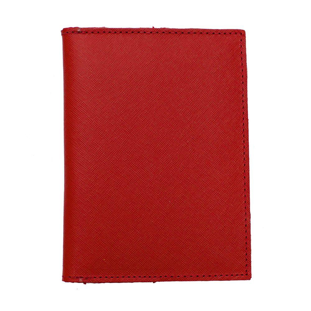 Porta-Passaporte-Vermelho-Safiano
