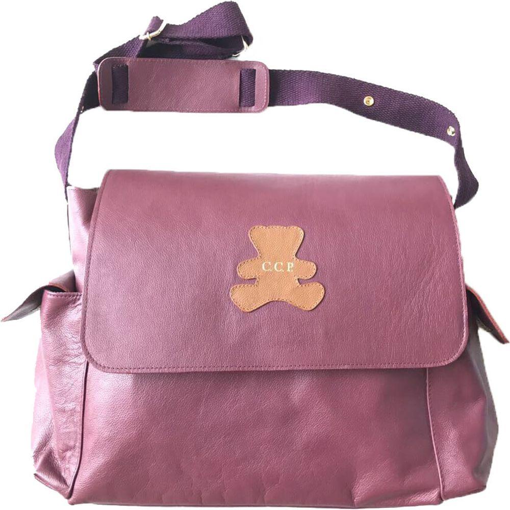 Bolsa-de-Bebe-Burgundy-com-Urso-Caramelo