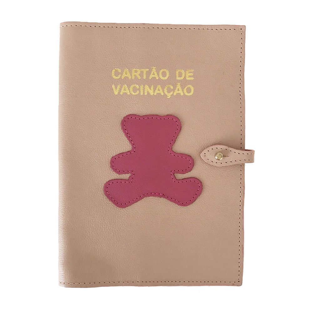 Porta-Cartao-de-Vacina-Little-Bear-Rose-com-Fucsia