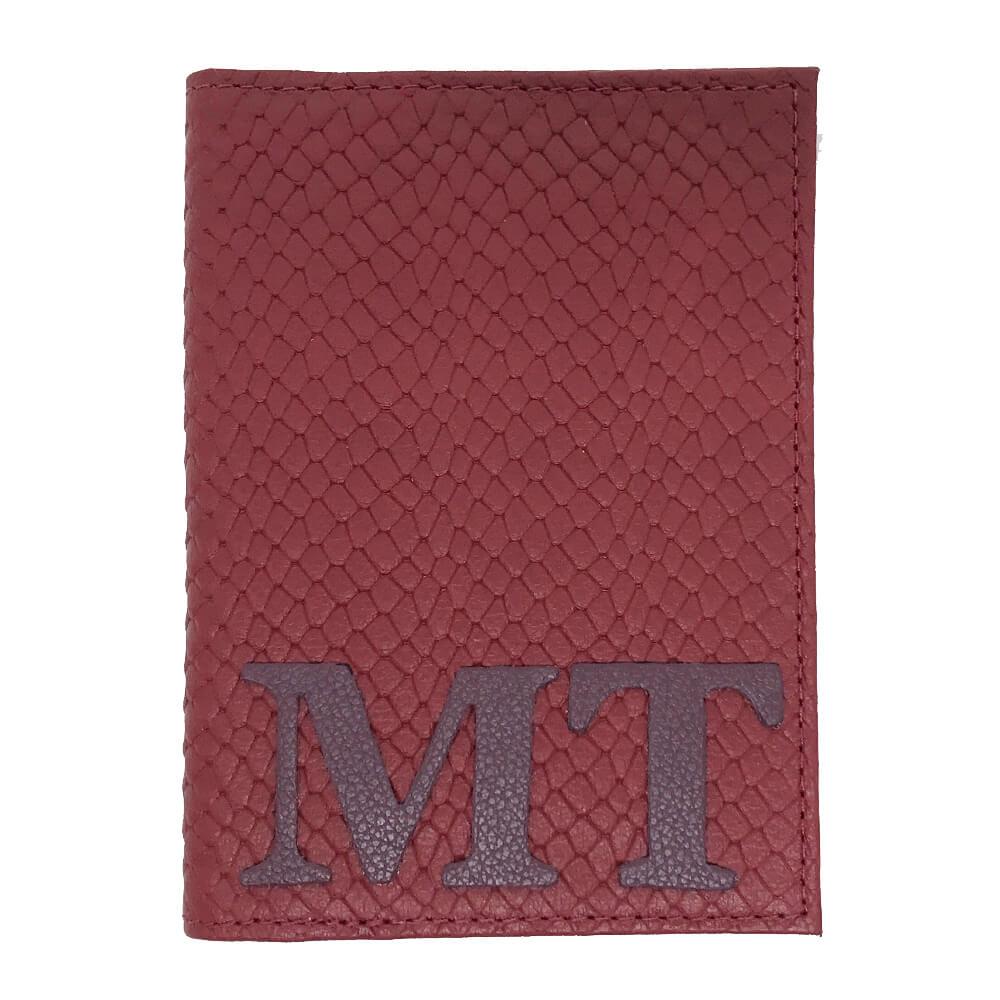 Porta-Passaporte-Colors-Vermelho-Escama-com-Burgundy