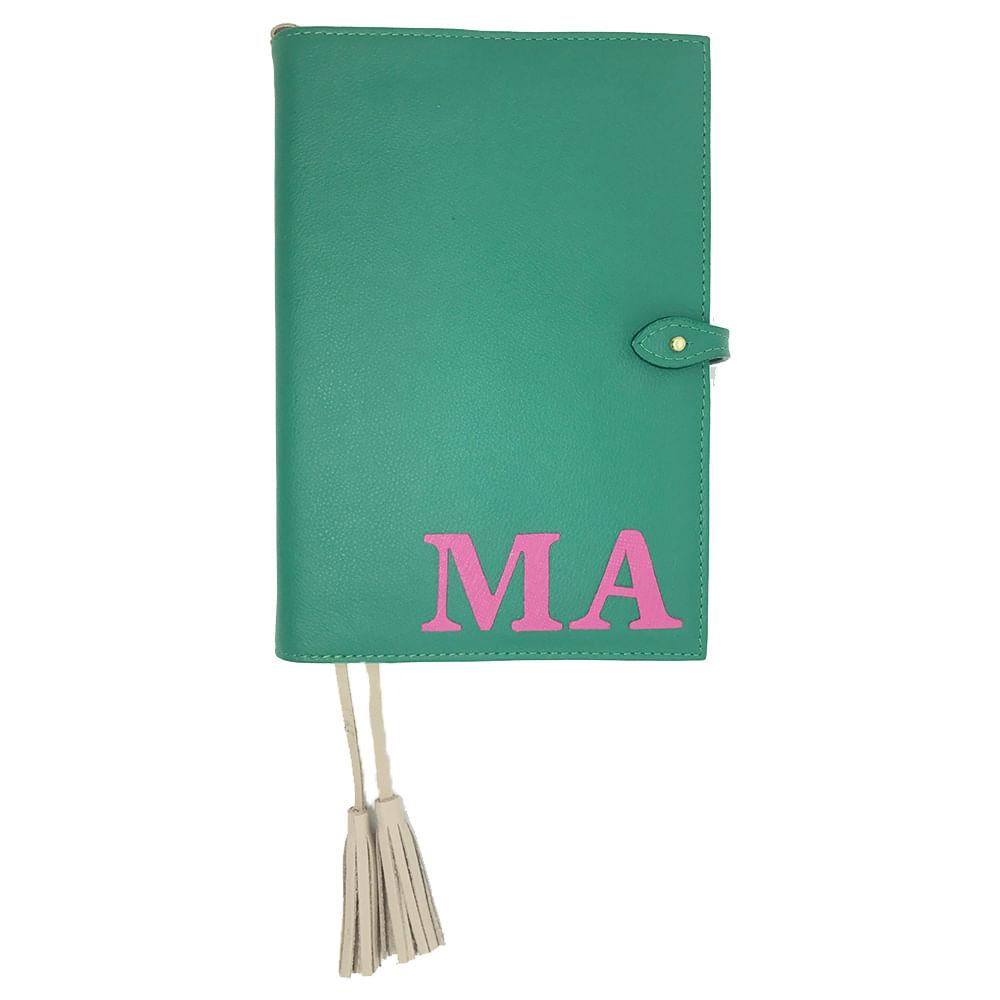Agenda-Colors-Esmeralda-com-Pink-Lesarzinho-G
