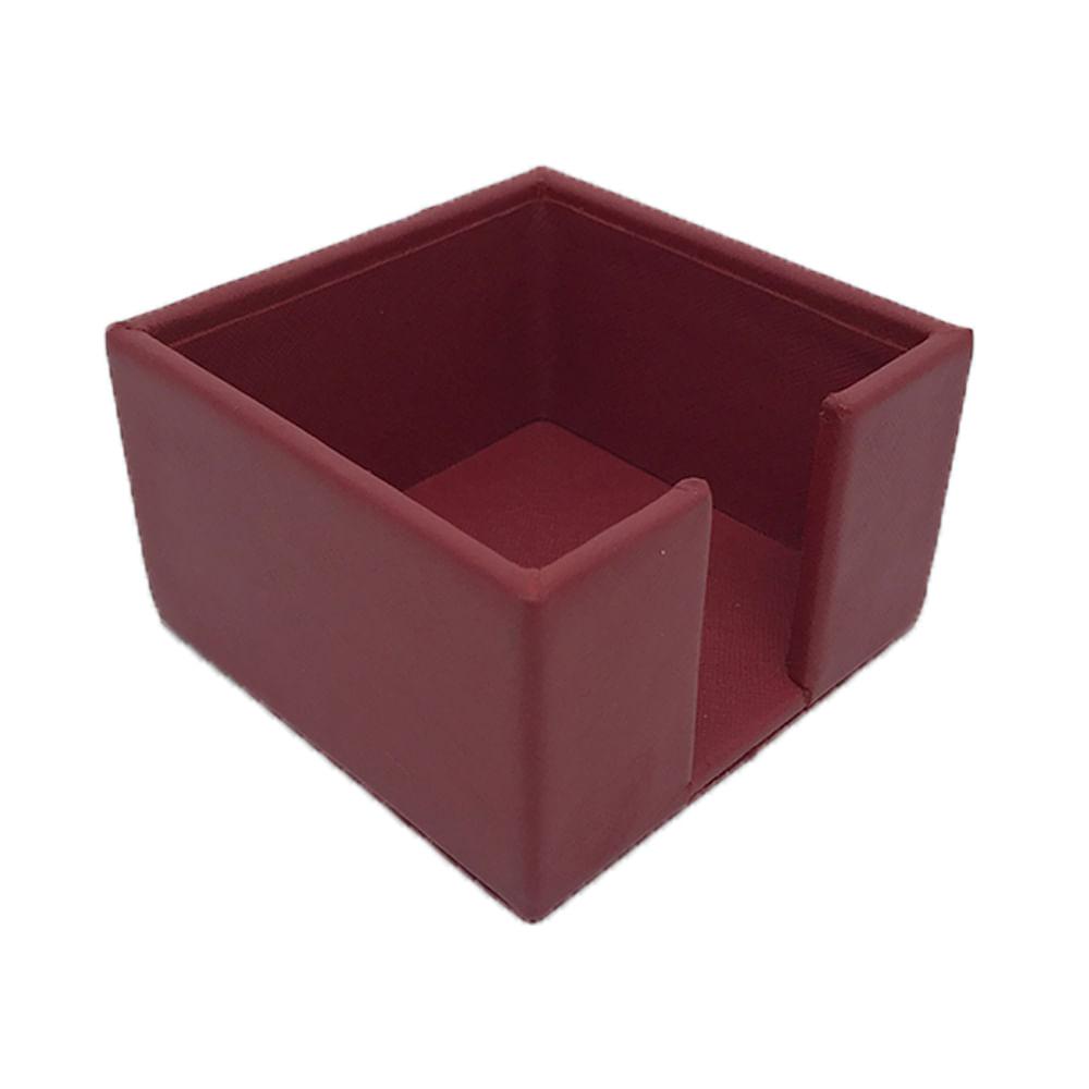 Porta-Post-It-Vermelho-Safiano-com-Papelaria