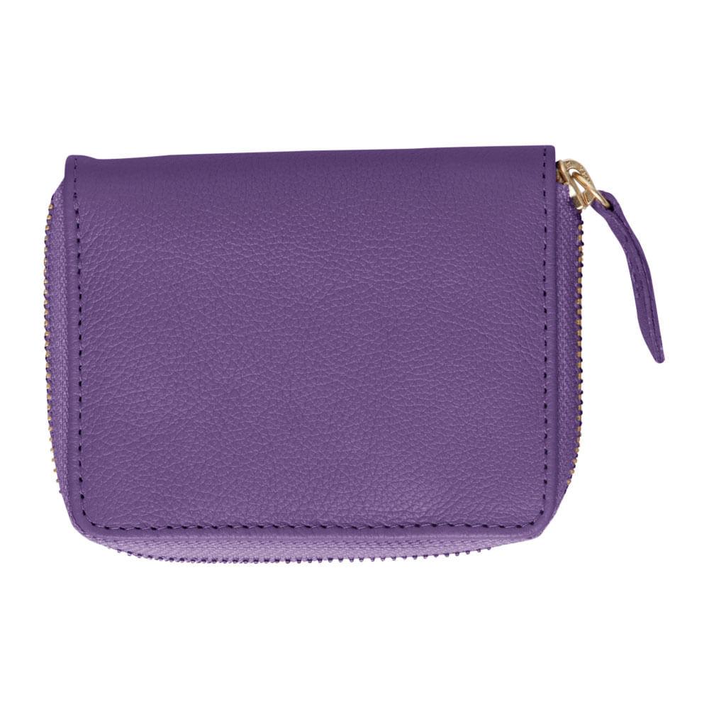 Carteira-de-Dinheiro-Pequena-Ziper-Purple-Liso