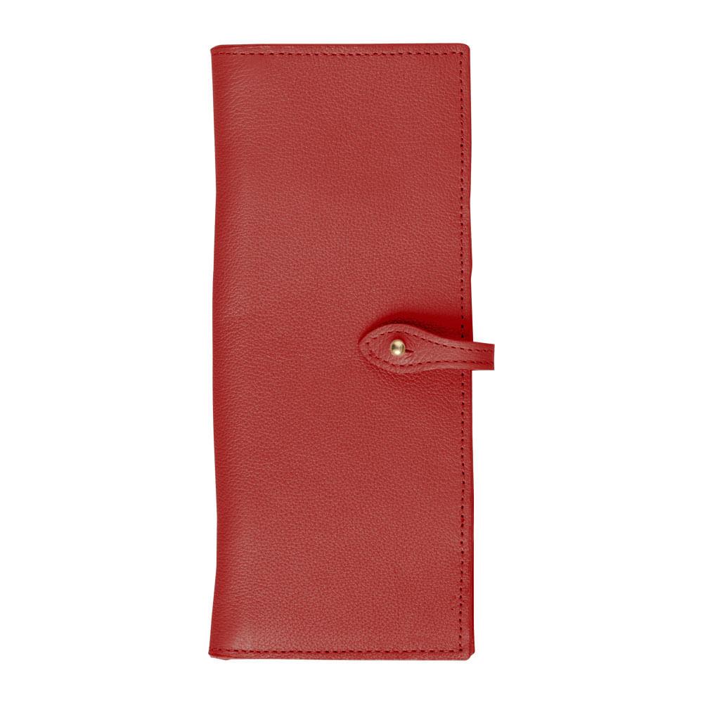 Porta-Cheque-Vermelho-Liso