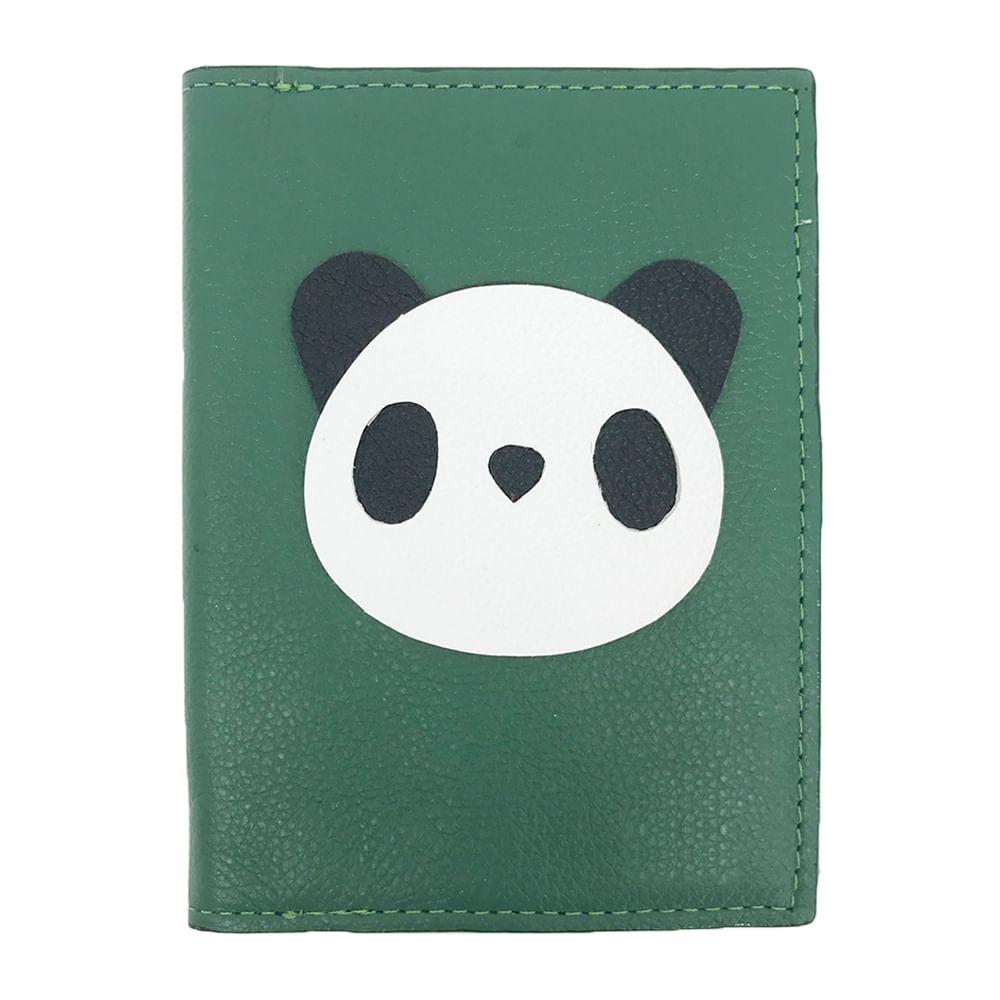 Porta-Passaporte-Little-Panda-Esmeralda-Liso
