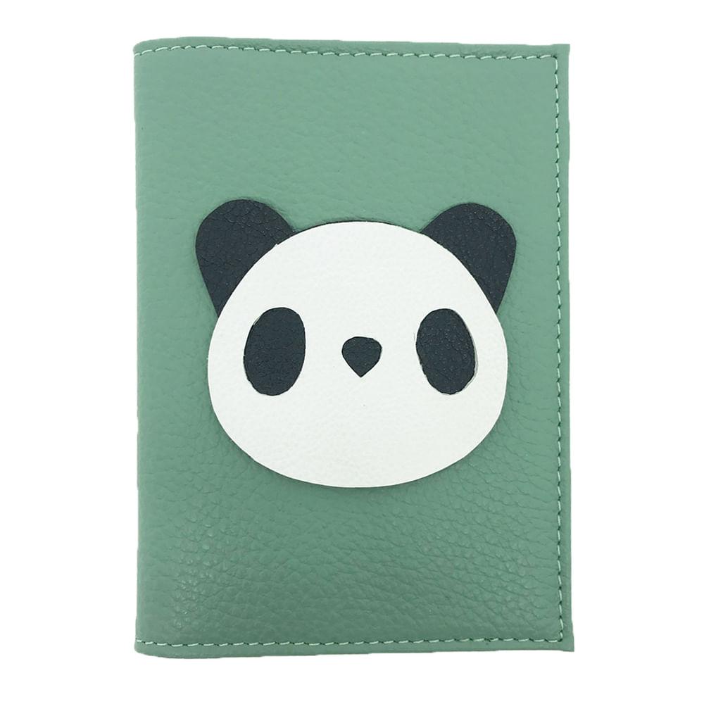 Porta-Passaporte-Little-Panda-Jade-Liso