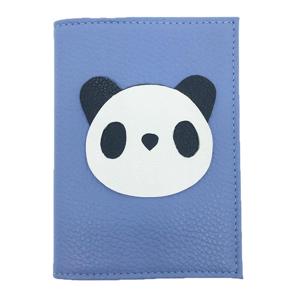 Porta-Passaporte-Little-Panda-Sky-Liso