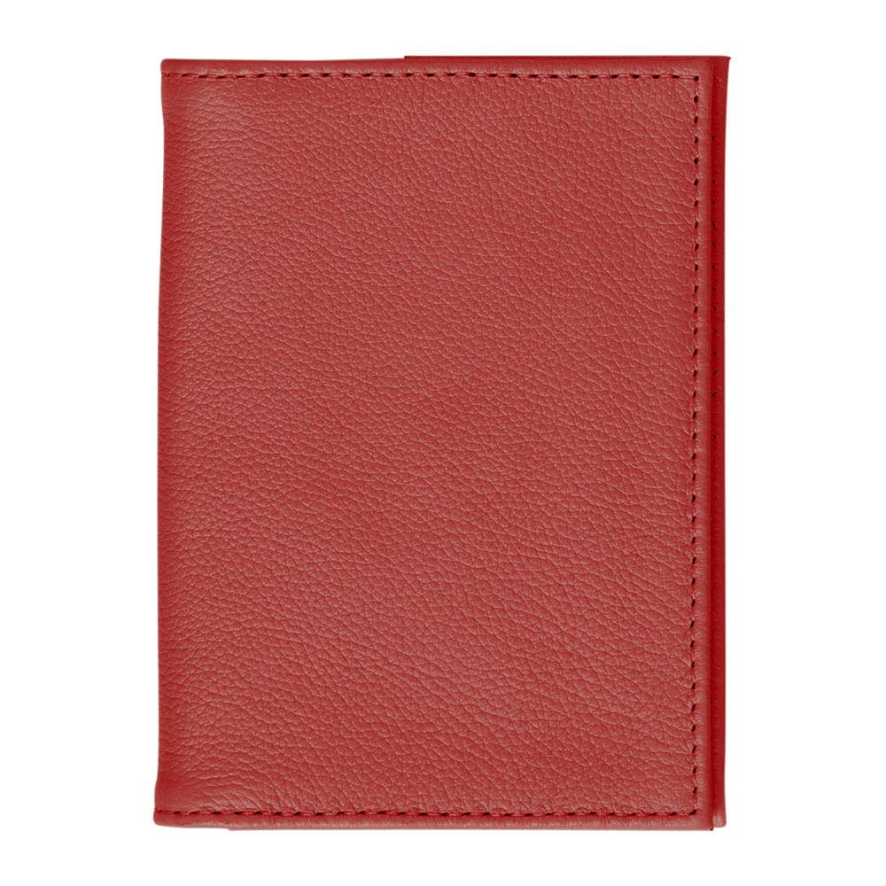 Porta-Passaporte-Vermelho-Liso