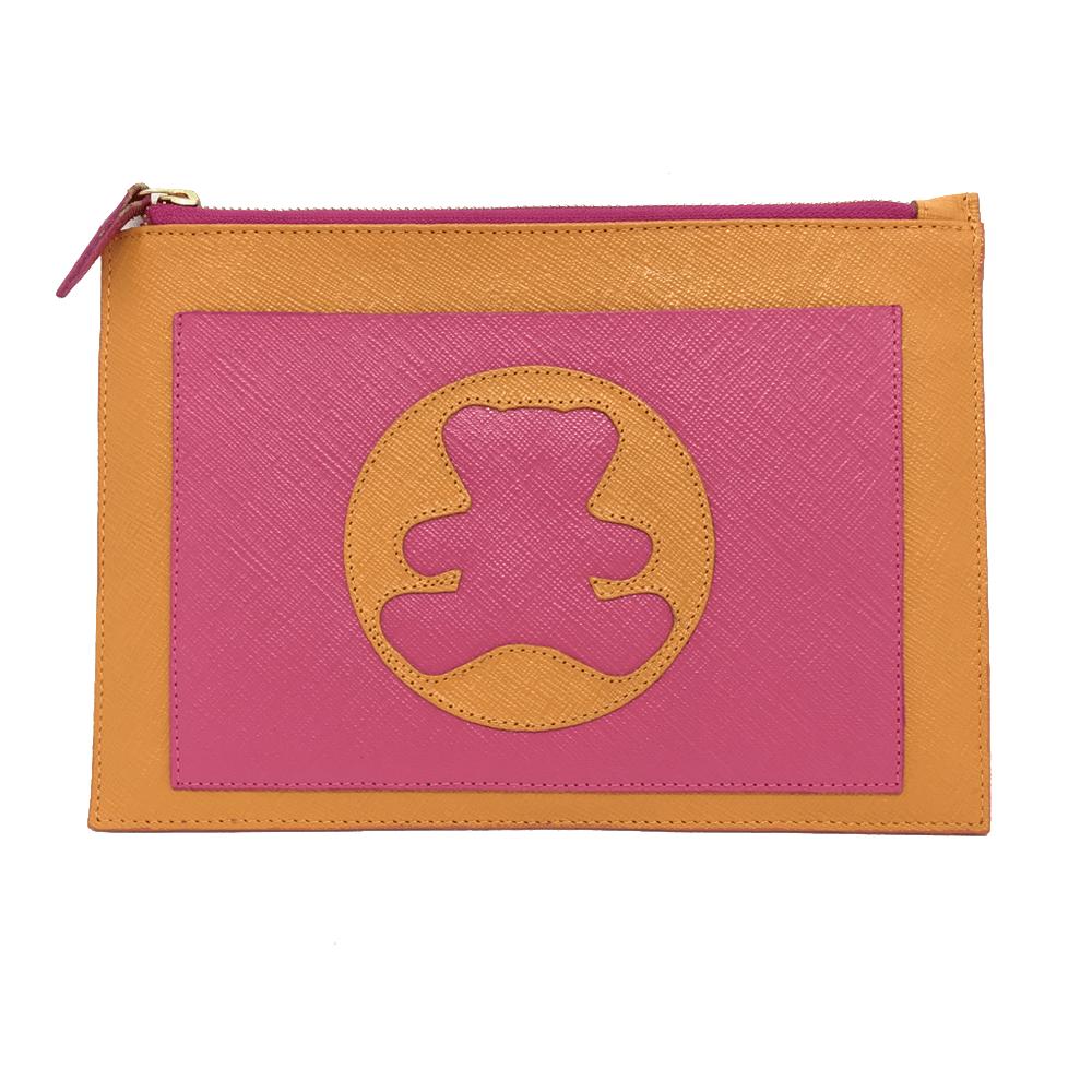 Porta-Documento-Infantil-Tangerina-Prada-com-Pink-Prada