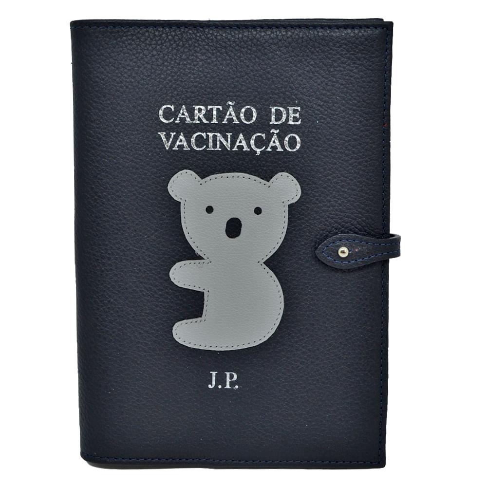 Porta-Cartao-de-Vacina-Little-Koala-Marinho-Liso