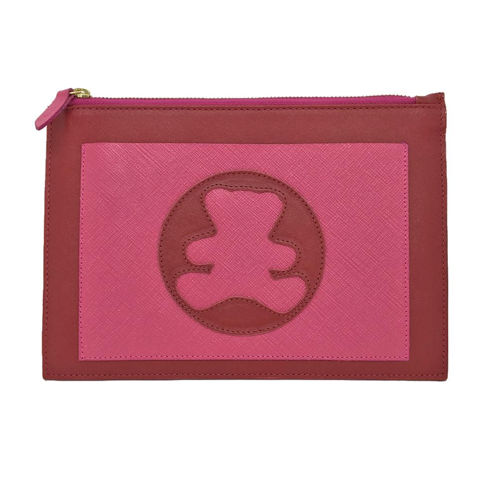 Porta-Documento-Infantil-Vermelho-Safiano-com-Pink-Prada