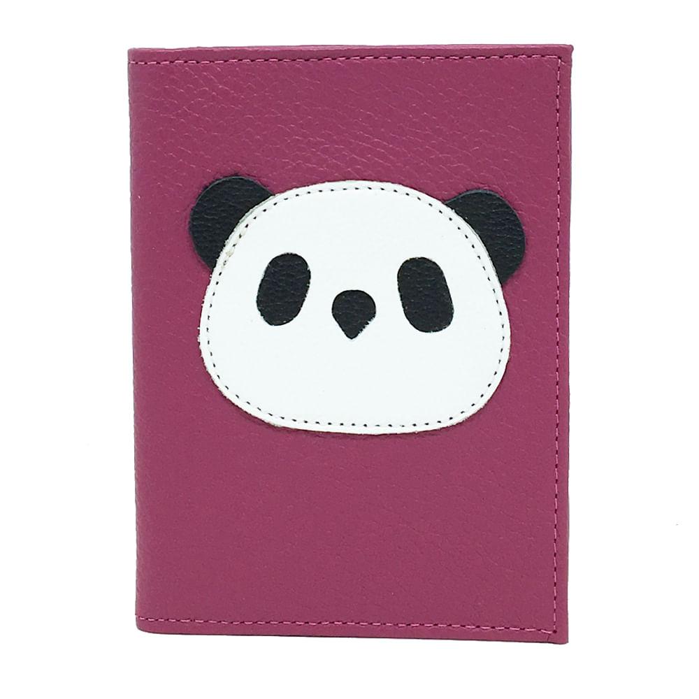 Porta-Passaporte-Little-Panda-Ameixa-Liso