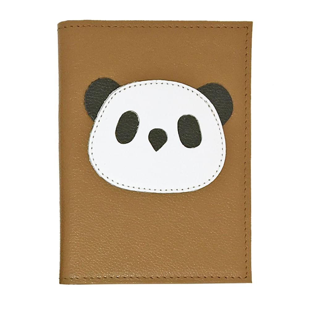 Porta-Passaporte-Little-Panda-Caramelo-Liso