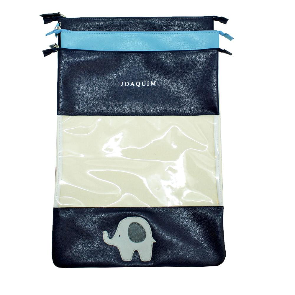 Kit-Bag-Look-Little-Elephant-Marinho-Liso-e-Aqua-Liso