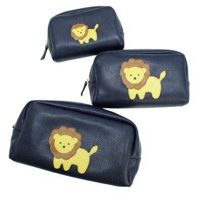 Kit-Necessaire-Little-Lion-Marinho-Liso