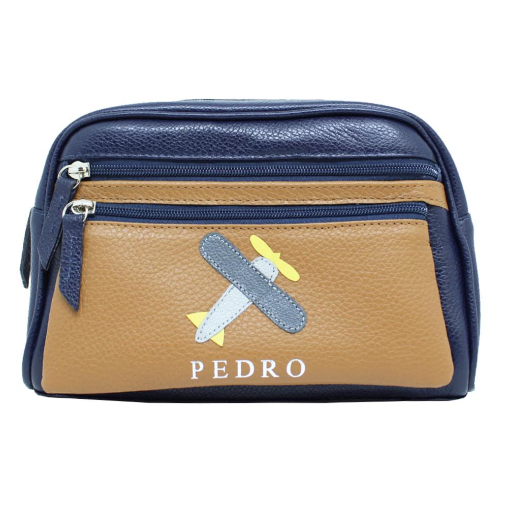 merci-with-love-necessaire-little-plane-marinho-liso-com-caramelo-liso-frente