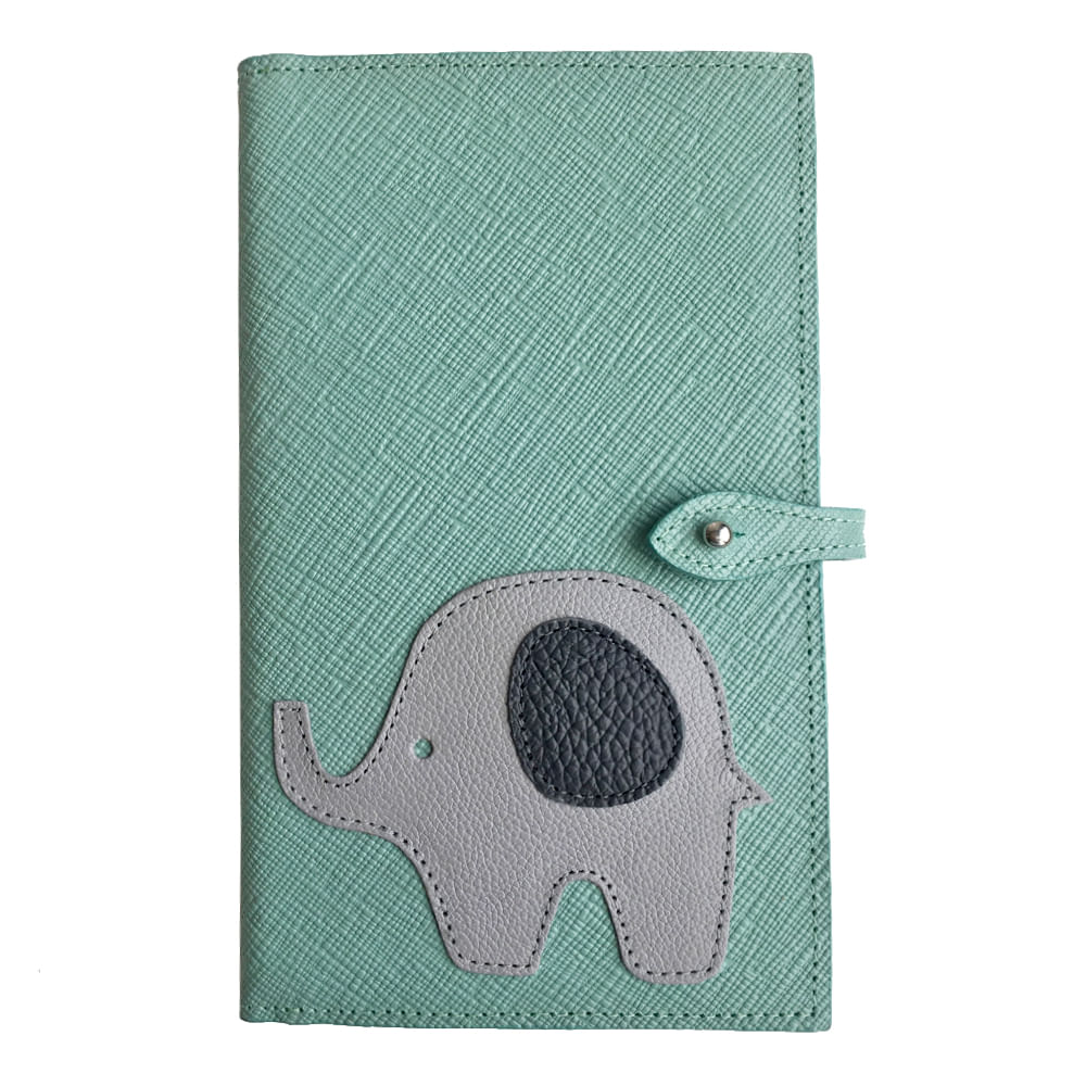 merci-with-love-porta-passaporte-familia-6-little-elephant-menta-prada-frente