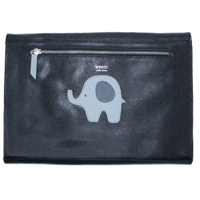 merci-with-love-pasta-a4-little-elephant-preto-liso-costas