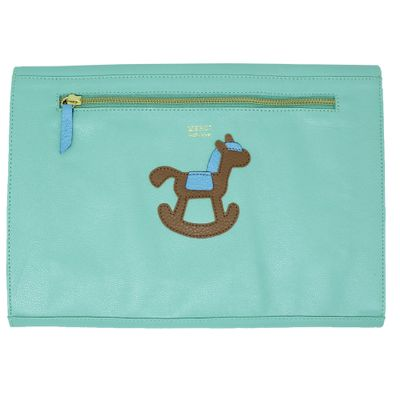merci-with-love-pasta-a4-little-horse-menta-liso-com-aqua-liso-costas