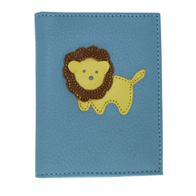 merci-with-love-porta-identidade-infantil-little-lion-aqua-liso-frente