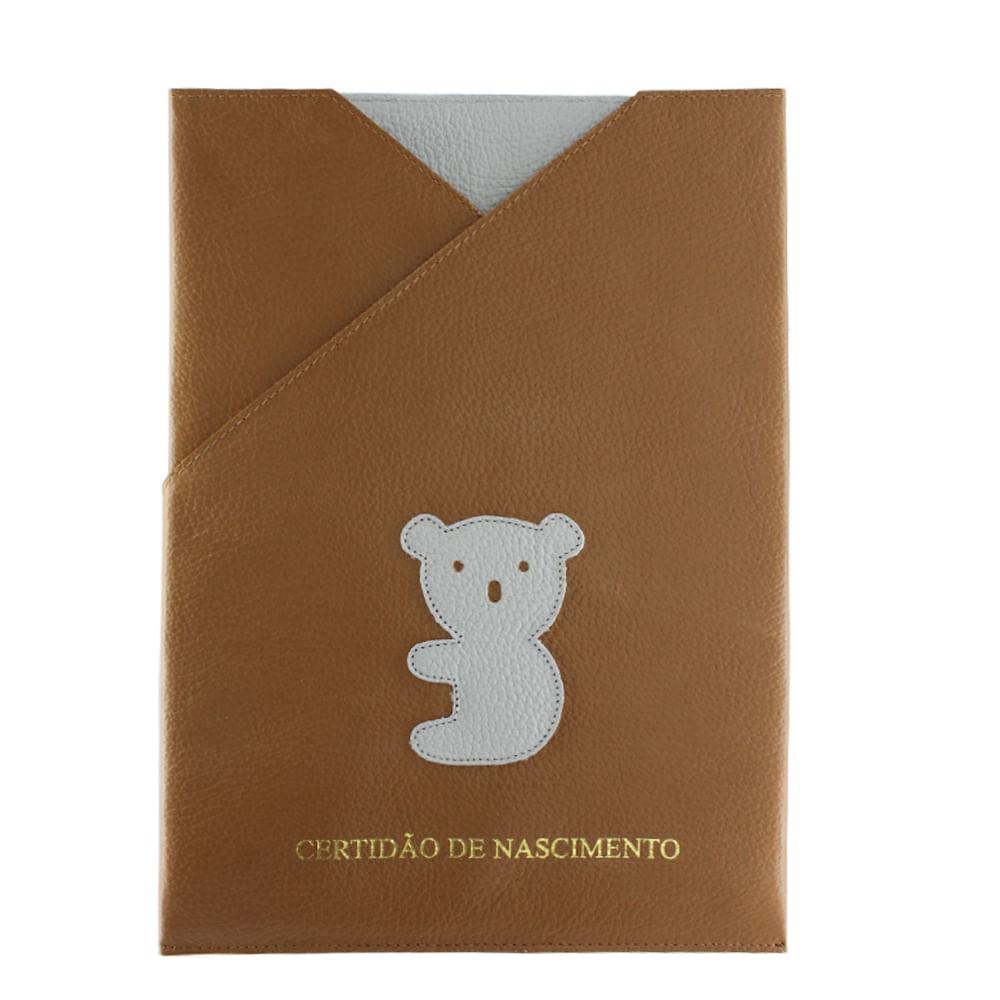 merci-with-love-porta-certidao-de-nascimento-little-koala-caramelo-frente