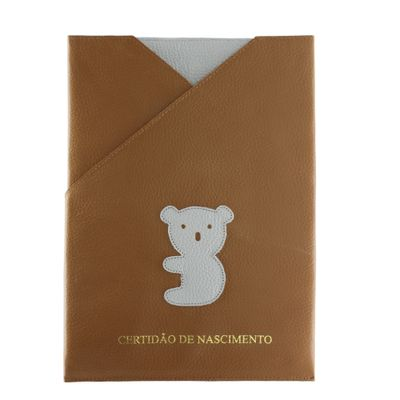 merci-with-love-porta-certidao-de-nascimento-little-koala-caramelo-frente