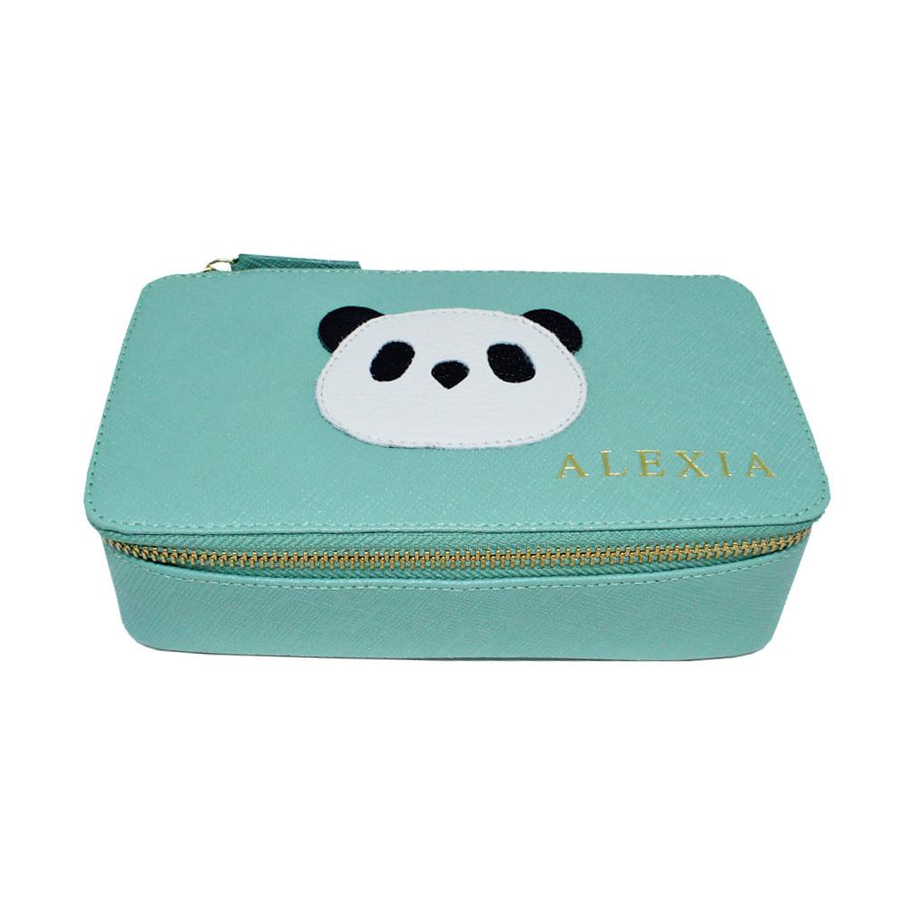 merci-with-love-porta-joias-lourdes-little-panda-menta-prada-frente