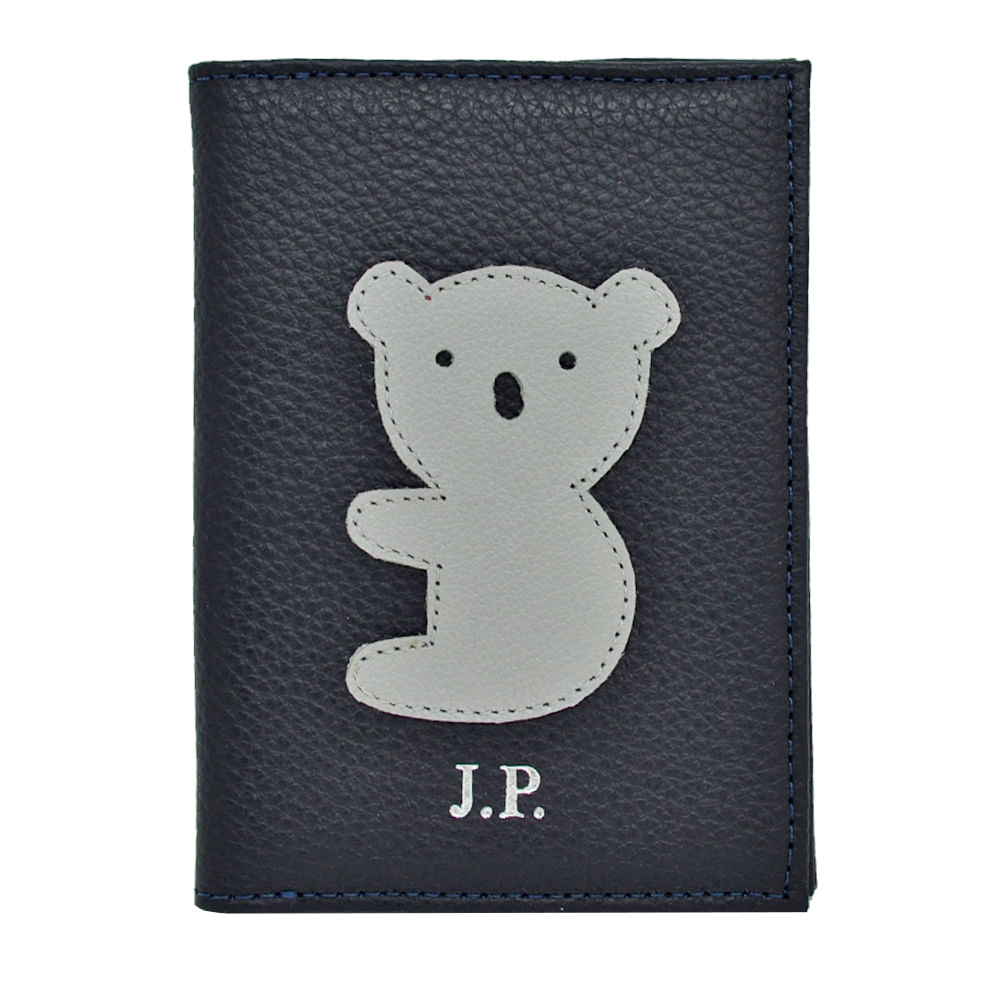 merci-with-love-porta-passaporte-little-koala-marinho-liso-frente