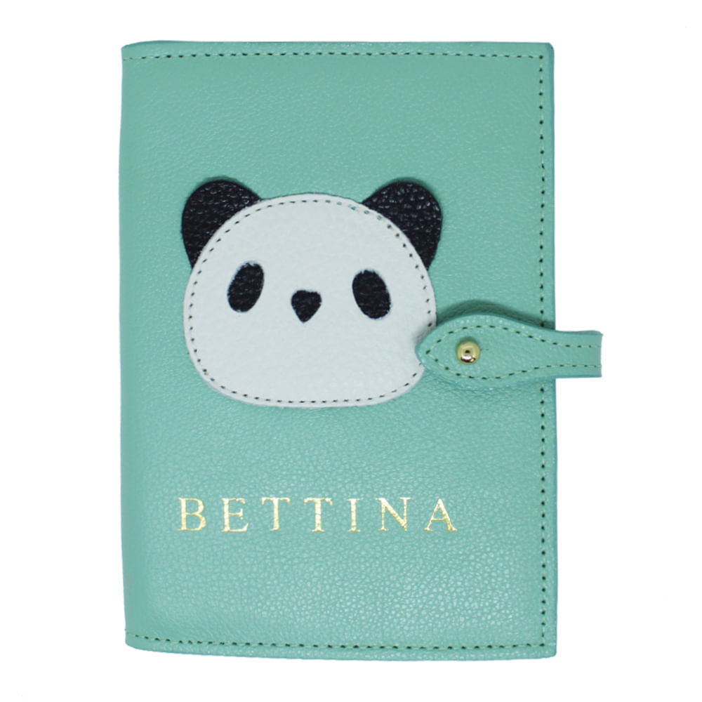 merci-with-love-porta-passaporte-duplo-little-panda-menta-liso-frente