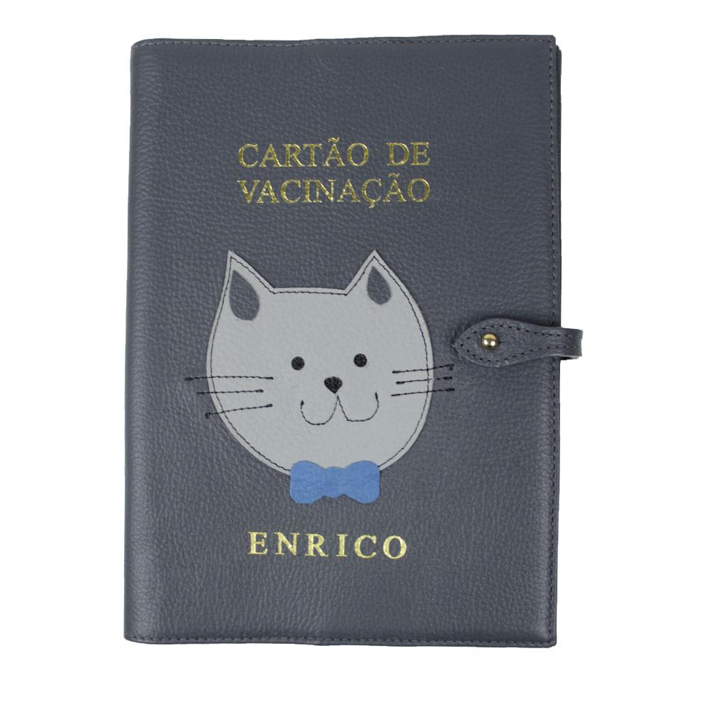 porta-cartao-de-vacina-little-cat-chumbo-frente