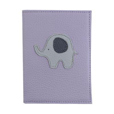 Porta-Passaporte-Little-Elephant-Lilas-Liso