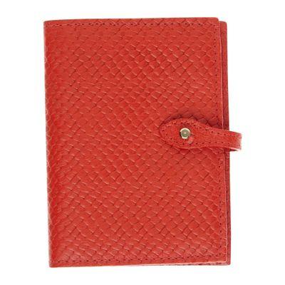 Porta-Passaporte-Duplo-Vermelho-Escama-