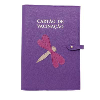 Porta-Cartao-de-Vacina-Libelula-Purple-Liso