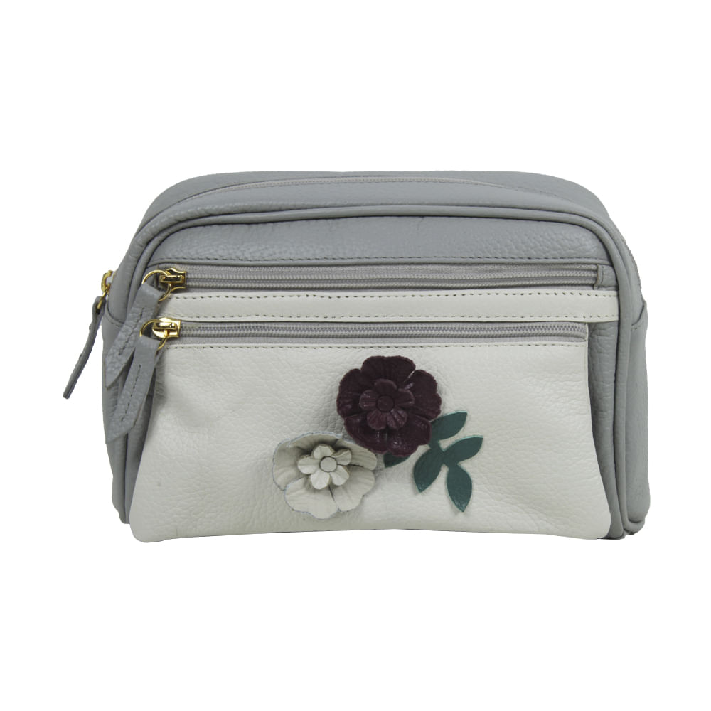 MERCI-WITH-LOVE-NECESSAIRE-LE-JARDIN-CINZA-CLARO-OFF-WHITE-FRENTE