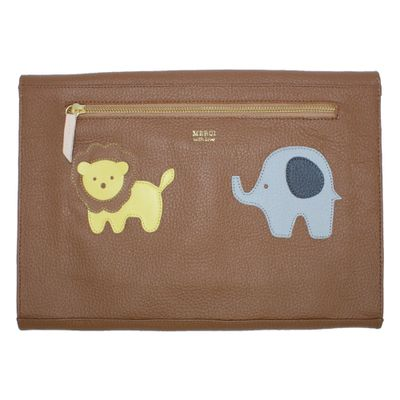 merci-with-love-pasta-A4-little-lion-elephant-caramelo-liso-verso
