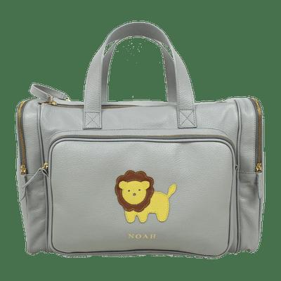 merci-with-love-baby-weekend-bag-cinza-claro-little-lion-frente2