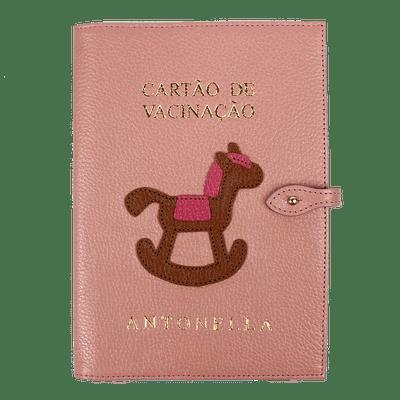 merci-with-love-porta-cartao-de-vacina-algodao-doce-liso-little-horse-caramelo-liso-chiclete-frente