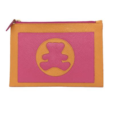 merci-with-love-porta-documento-tangerina-prada-com-pink-prada-frente